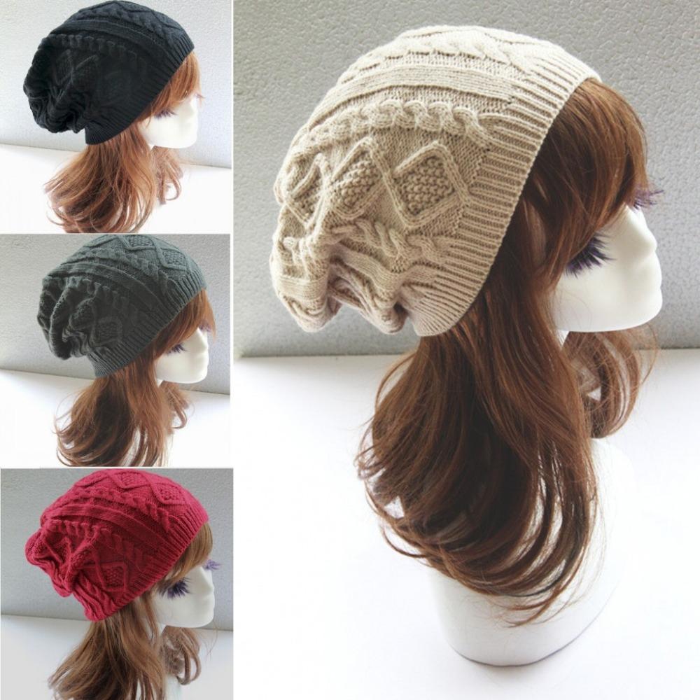 Toucas De Inverno 2015 Chapeu Feminino Twist Pattern Women Winter Hat Knitted Sweater Fashion Hats For Women New Design Caps(China (Mainland))
