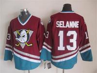 2015 New Anaheim Ducks Jerseys Ice Hockey Jersey Embroidery Mix Orders #13 Teemu Selanne Red CCM Vintage jersey1463