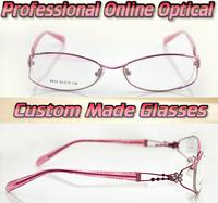 Beautiful flower shaped diamonds Optical Custom made optical lenses Reading glasses -1 -1.5 -2 -2.5 -3 -3.5 -4 -4.5 -5 -5.5 -6