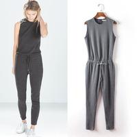 women piece drawstring pants spring summer new fashion ladies temperament was thin sleeveless gir Jumpsuits Rompersl