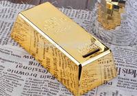 10 pieces 999.9 Gold Bullion Bar Piggy Bank Novelty Brick Coin Bank Saint Valentine's Day Gift