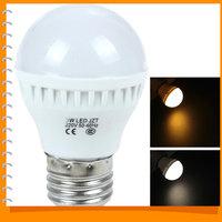 5pcs! 3W E27 220V 12 x 2835 LED Bulb White / Warm White Light Energy-saving LED Light Lamp Bulb for Home / Commercial Use