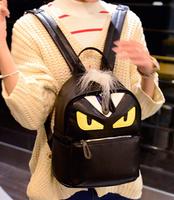 Brand personality Fashion Design bag Man Women Girls Leather Shoulders Bag Rucksack Satchel School Bag Little Monster bag