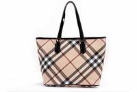 2014b classic plaid fashion genuine leather women's bags one shoulder handbag women's handbag