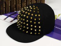 Fashion punk rivets hip hop flat along baseball caps peaked hats caps for man and woman Z4065
