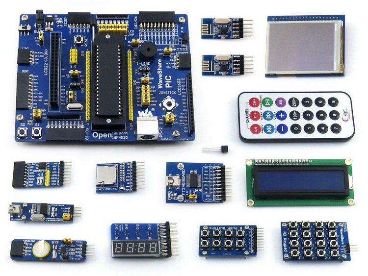 PIC Board PIC18F4520-I/P PIC18F4520 PIC 8-bit RISC PIC Microcontroller Development Board +14 Accessory kits =Open18F4520 Pack-B(China (Mainland))