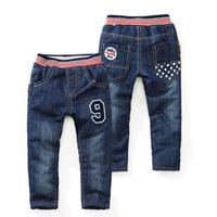 winter kids warm trousers male children's plus velvet thickening long trousers jeans boys pants