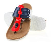 Free Shipping 2015 New Men Sandals Birkenstock Flip Flops Fashion Shoes Slippers Cork Sandals Summer Beach Slippers Size 39-43