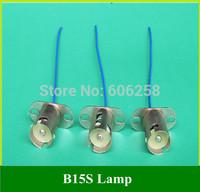 B15S Single Contacts Lamp Holder , Motorcycle Lamp Base Socket 50PCS