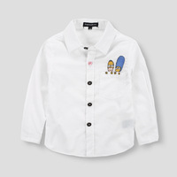 New Arrival 2015 Spring Kids Brand Casual Cotton Good Quality Children Shirts White Color Popular Shirts For Boy's Shirts