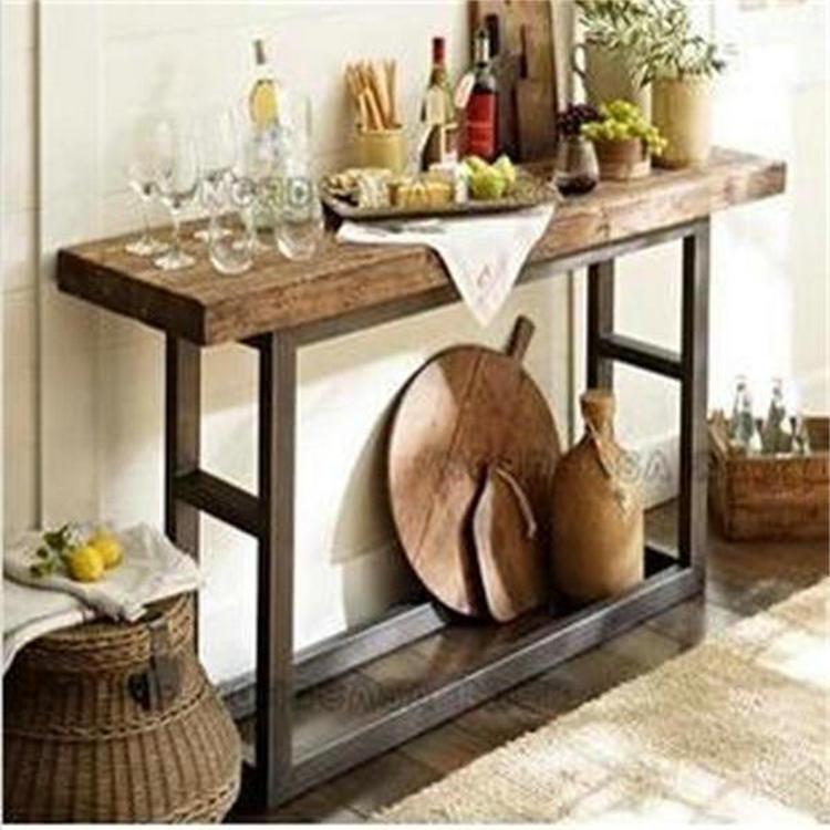 Comparer les prix sur bar console table online shopping acheter prix bas bar console table - Console bois et fer smeden ...