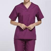 100% cotton Womens Medical Nursing Doctor SCRUB SET Uniform Shirt & Pants,top quality