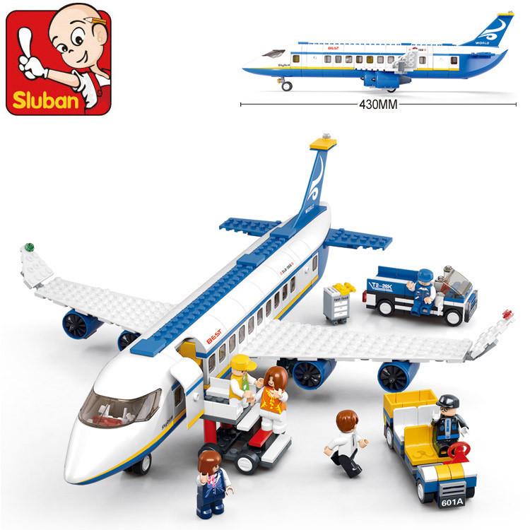 Hot New Original Sluban 483 pcs/set AirBus Model Airplane Building Blocks sets DIY Bricks Classic Toys Compatible with Lego(China (Mainland))