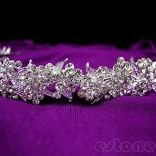 U118 – Free shipping Twinkling Full Crystal Flower Leaf Wedding Bridal Flower Girl Tiara New Fashion