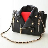 women fashion bag clothes shape coat shoulder bag chain mcdonald`s handbag jacket bag clothes motorcycle bag messenger bags