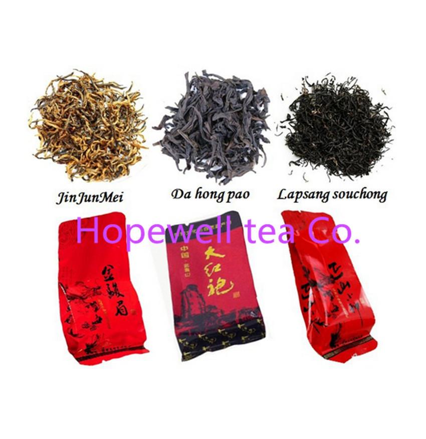 Free shipping 15 bags Organic Chinese Oolong Tea Different flavors Tea Jin jun mei Dahongpao Lapsang