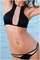 Free Shipping 2015 New Hot Sale Fashion Women New Sexy Mesh-insert Surfing Bikini Swimwear Size S/M/L NA41001