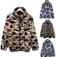 New Spring Autumn Camouflage Outdoors Windbreaker Jackets Men Hoodies Jacket Man Sportswear Zipper Coats