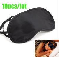 10 Pcs/lot Eye Mask Cover Shade Blindfold Sleeping Travel Black