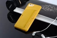 New arrival colorful Luxury back cover case with card slot for iphone 6 4.7inch,Free shipping
