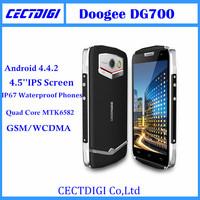Original Doogee DG700  IP67 Waterproof Phones Quad Core MTK6582 smart phone 8G ROM GSM/WCDMA  GPS TITANS 2 DG700