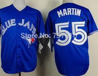 Cheap Sale,Toronto Blue Jays #55 Martin Jersey Blue 2015 New Men's Baseball Jerseys Accept Mix Order