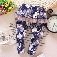 4pc/lot girls skirts leggings flower 2015 new baby clothing wholesale kids leggings lace panya a005