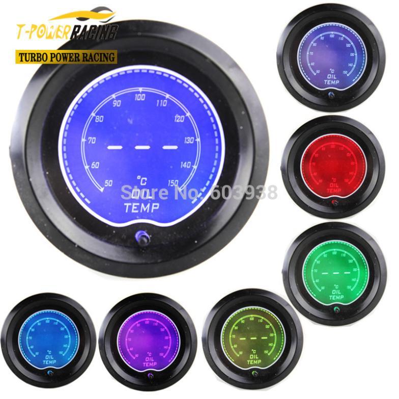 "Nova marca de 2 "" EVO LCD 7 cor Oil temp gauge / auto medidor / auto medidor / car meter / medidor de pressão / impulso controlador(China (Mainland))"