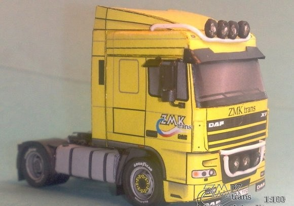 [2015 new fun toys] DAF XF 95 heavy truck paper model(China (Mainland))
