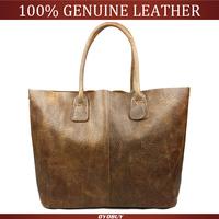 Ladies fashion casual retro leather shoulder bag large women natural cowhide handbag Genuine Leather tote bolsas