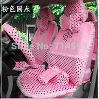 21 pcs leopard seat cover  full set high quality universal size four season plush fabric car seat covers