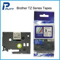 laminated label tape printer TZ-221,TZ221 Black On White Compatible tz Tape 9mmX8m Printer Ribbon For PT3600