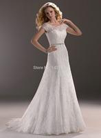 2014 New abito da sposa Lace Cap Sleeve Backless Mermaid Wedding Dress vestido de noiva Sexy Sweetheart Custom Made Bridal Gowns