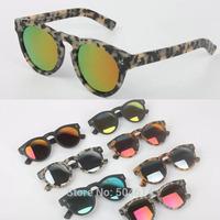Brand Fashion Unisex Hot Round Designer Mirror Coating Sunglasses, Gift Polarized UV400 Protection Star Vintage Sun Glasses 2015