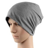 Solid Color Unisex Men Women Warm Plain Knit Ski Long Beanie Skull Cap Hat