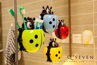 Creative new ladybug sucker toothbrush storage rack storage box super suction free shipping