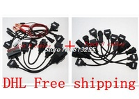 2014 New Auto OBD2 Diagnostic tool CDP Cables  For Autocom TCS CDP Pro truck 8 Cables and car 8 cables  DHL free shipping