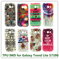 35PCS Hot Sales Fashion Pattern Elephat Lower IMD Soft TPU Back Cover Case for Samsung Galaxy Trend Lite S7390 Phone Bags