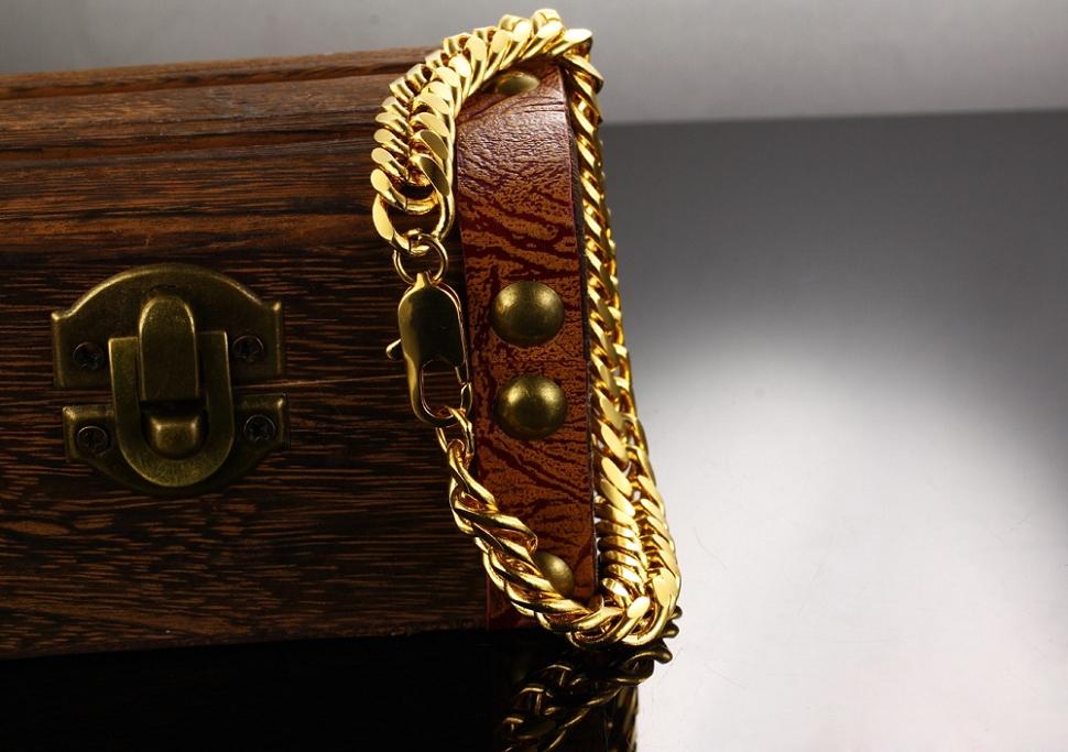 Vintage 18k Gold Link Bracelet Bracelet Vintage 18k Gold