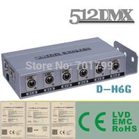 6 Way DMX Splitter;AC110V/AC220V input; 2 DMX inputs to 6 DMX outputs;DMX amplifier,dmx distributor
