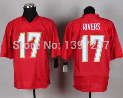 17 Philip Rivers Jersey,Embroidery logos Elite men 2014 QB Red,Dark Blue men's San Diego American Football Jersey free shipping(China (Mainland))