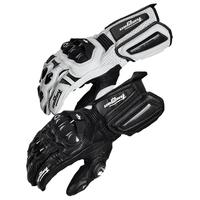 High quality  furygan AFS6 letaher motorcycle racing gloves motorbike motocross guantes motos luva moto white and black M L XL