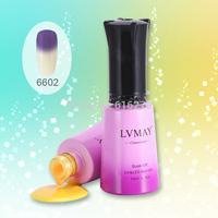 6pcs free shipping Uv nail Professional Light Color Change Gel low price china gel