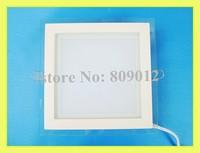LED panel lamp LED flat light square with glass AC85-265V 100X100 6W / 160X160 12W / 200X200 18W enough wattage real 6W 12W 18W