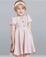 5pcs/lot summer spring Bubble sleeve Relief Jacquard girls Dress