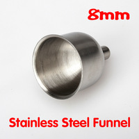 8mm Stainless Steel Funnel For Most Hip Flasks Wine Pot Wide Mouth Funnel  LY#4