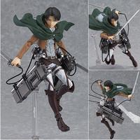 "2015 New Cool 6"" Attack on Titan Shingeki no Kyojin Scouting Legion Levi PVC Action Figure Model Toys Retail Box Gifts Toys"