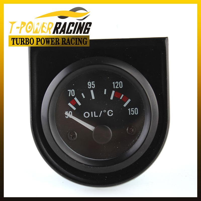 "2 "" Universal temp óleo medidor de 50 ~ 150 C / metro auto / calibre auto / tacômetro / medidor car / corrida medidor(China (Mainland))"