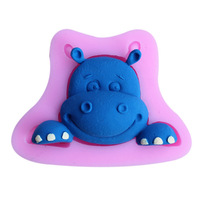 Silicone mold cake tools animal biscuit tools cute hippo cake mold Sugar Paste fondant cake decorating tools kitchen accessories