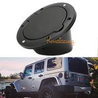 For Jeep Gas Cap Black Car Offroad Auto non-locking Fuel Filler Door Fuel Tank Cover For Wrangler JK 07~14 2DR 4DR